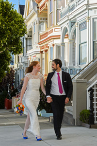 San Francisco Painted Ladies wedding image